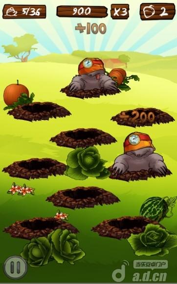 打地鼠 Mole Hunt v1.1.0-Android益智休闲類遊戲下載